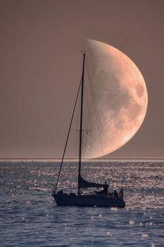 Moon ocean silence