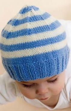 Stripe Knit Baby Hat - free pattern