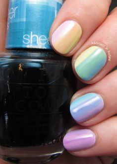 Adventures In Acetone: OPI Sheer Tints Nail Art!
