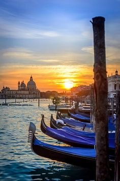 Grand Canal Sunset ~ Venice, Italy