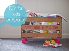 DIY: Fruit Crate With Casters