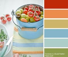 Tomatoes in a Bucket Color Palette | Meeta Wolff