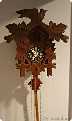 Vintage cuckoo clock--how I'd love to find this exact clock......