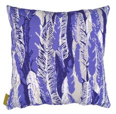 Feather Cushion in blue