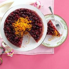 Baked Cranberry Pudding Recipe from Taste of Home