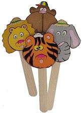 Safari Puppets. Use these while learning about animal habitats. More from MakingFriends.com