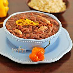 Jamaican Stew Peas with Dumplings (Spinners) - looks so good!!