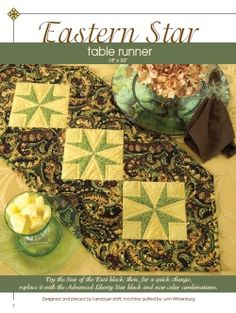 Free Project!Stitch a quick and easy table runner using Penny Haren's Pieced Appliqué technique. Perfect for adding a new accent to your own table or as a quick housewarming gift for friends or family. This project is from Penny's book Penny Haren's Pieced Appliqué Weekend Projects