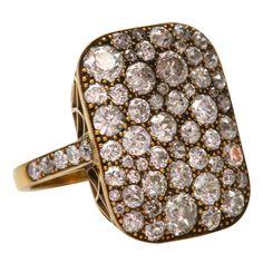 1920's Old European Mine & Cushion Cut Diamond Ring - singlestone.com
