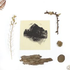 ScreenPrint ENDLESS MOUNTAINS Pattern Printed by PLANETARIUMdesign