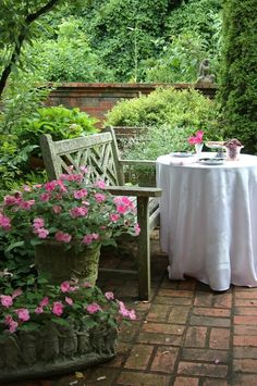 Tea for one in the garden