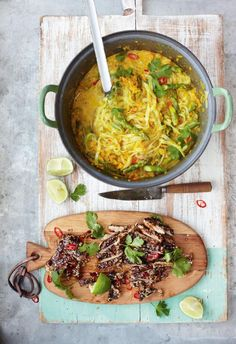 Jamie Oliver thai chicken with spicy noodle broth