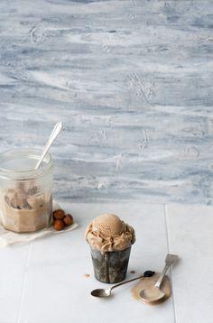 Top with cinnamon: Coffee Hazelnut Ice cream.