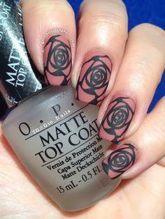 MATTE ROSE NAILS