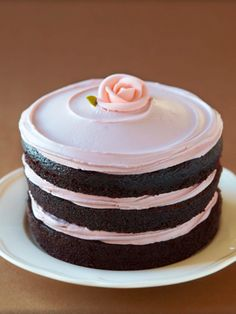 made with double chocolate cake and raspberry buttercream. yum.