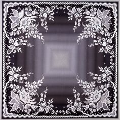 Great quilt from Ted Storm, 80x80 inch, looks like a lace hanky