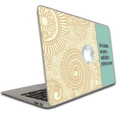 """Macbook Air or Macbook Pro (13 inch) Vinyl, Removable Skin - Dumbledore Quote - """"For in dreams..."""" - Harry Potter by VictoryStore, http://www.amazon.com/dp/B00CME8N06/ref=cm_sw_r_pi_dp_5Rqisb1MF7ZPJ"""