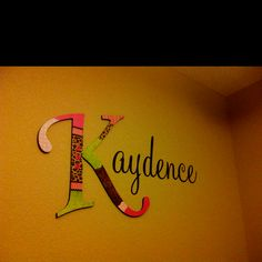 decorated letter and vinyl wall art!