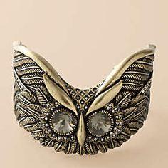 owl pet, owl cuff, cuff bracelets