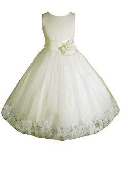AMJ Dresses Inc Ivory Flower Girl Wedding Dress « Dress Adds Everyday