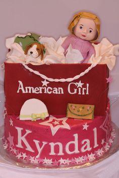 ... girl birthday cake  American Girl Surprise — Childrens Birthday