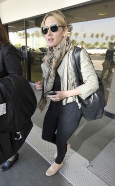 Kate Winslet #airport #celebrity #style #fashion #actress #travel #looks