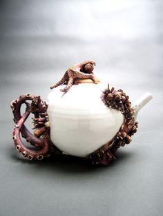 Bottom Feeder Tea Pot by MaryOMalleyCeramics on Etsy, $2400.00