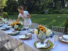 Elegant dining on the patio
