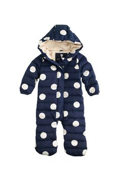 Polka Dot Baby Puffer Snow Suit.