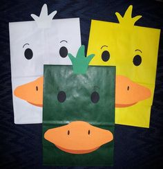 Duck Treat Sacks - Mallard Farm Barnyard Lake Wildlife Pond Woodland Hunting Theme Birthday Party Favor Bags by jettabees on Etsy