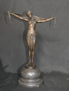 Art Deco Bronze Figurine Signed Chiparus Star Dancer