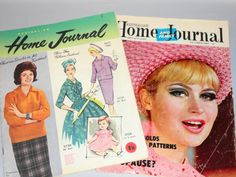 2 x 1960s HOME JOURNAL Women's Magazine