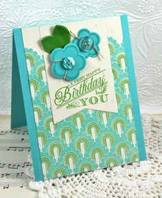 A Very Happy Birthday Card by Dawn McVey for Papertrey Ink (May 2013)