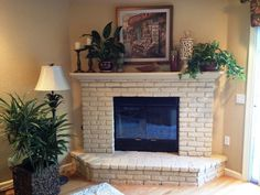Say It Right: Painting a Brick Fireplace