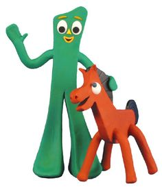Gumby and Pokey! I always watched those moving clay cartoons they made of them.