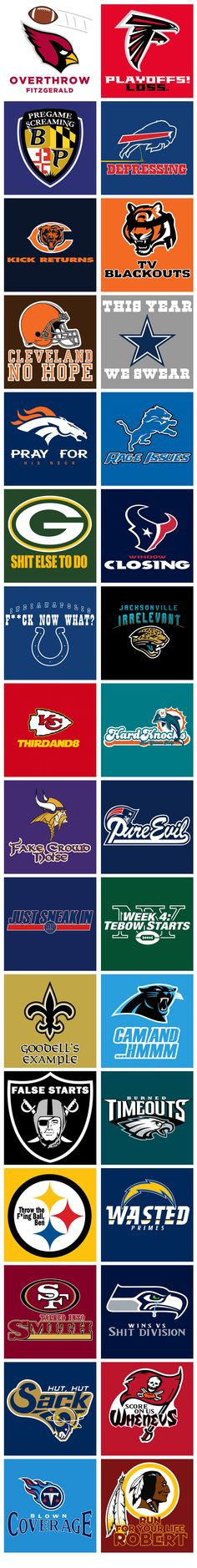 Honest NFL Logos.  The truth may hurt — but it's still the truth... (Love the Pittsburgh logo!)
