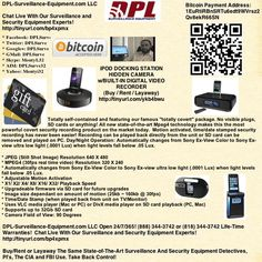 iPhone, iPod & iPad-Based Spy Equipment   DPL-Surveillance-Equipment.com  (888) 344-3742   DPL-Surveillance-Equipment.com Open 24/7/365! (888) 344-3742 or (818) 344-3742 (Spy Store)  Life-Time Warranties!   Buy, Rent or Layaway Nanny IP (Internet) Cameras, GPS Trackers, Bug Detectors and Listening Devices, etc.