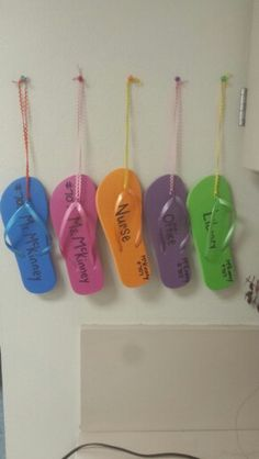 Easy and inexpensive classroom hall passes. Second semester,  switch to the other foot.