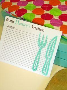 #recipe #cards