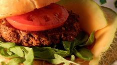 Hearty and nutty, these black bean burgers are made with cooked sweet potato, walnuts, Fresno chile pepper, rolled oats, and flaxseed.