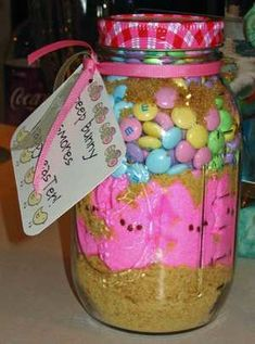 Peep s'mores in a jar. :)