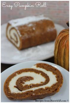 Easy Pumpkin Roll Recipe that's perfect for the holidays!!  TRY THIS ONE!  It's worth it!
