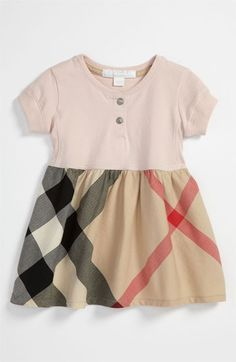 Burberry Check Print Dress (Baby) available at #Nordstrom