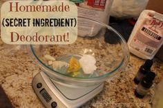 DIY deodorant - uses DE as secret ingredient....