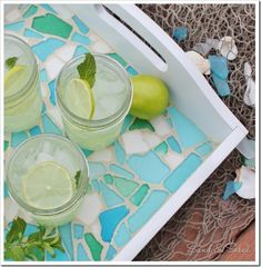 How to Make a Sea Glass Mosaic Tray