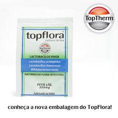 O TopFlora está de embalagem nova, mas com a qualidade da TopTherm que você já conhece: ele é um probiótico que auxilia no reforço do seu sistema imunológico e te dá aquele pique para o seu dia a dia! Ligue para 08007707900 ou acesse www.toptherm.com.br e confira as ofertas que preparamos para você!
