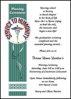 customize your award winning nursing invitation designs for pinning ceremony and announcements for nursing school graduation commencement at InvitationsByU, such as card number 7610IBU-NR, with lots of discounts and promos