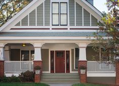 red doors, entry doors, brick accent, craigredl, front porch remodel, hous, red brick, front porches