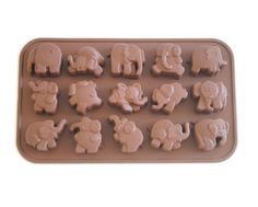 Dancing Elephant Cake & Chocolate Mold- Silicone | Browncookie.com
