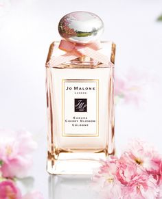Jo Malone sakura cherry blossom cologne. The latest addition to my JM collection, a surprise gift from the ol' ball 'n chain. It's the first cherry blossom I've found that's not too cloying to wear.